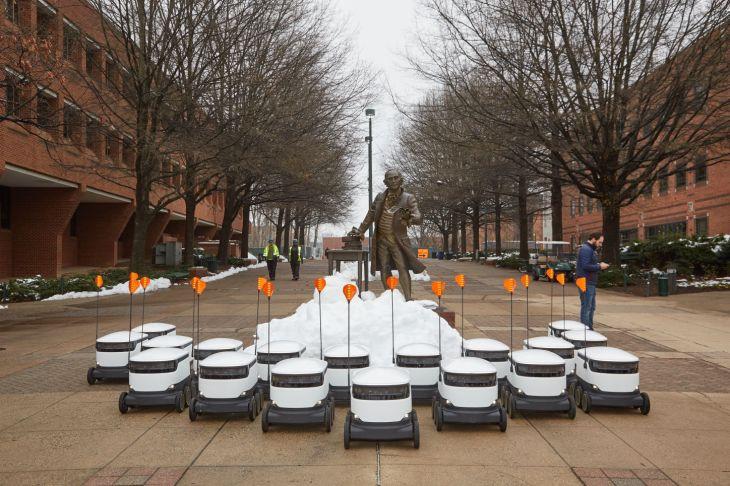 Autonomous food delivery robots