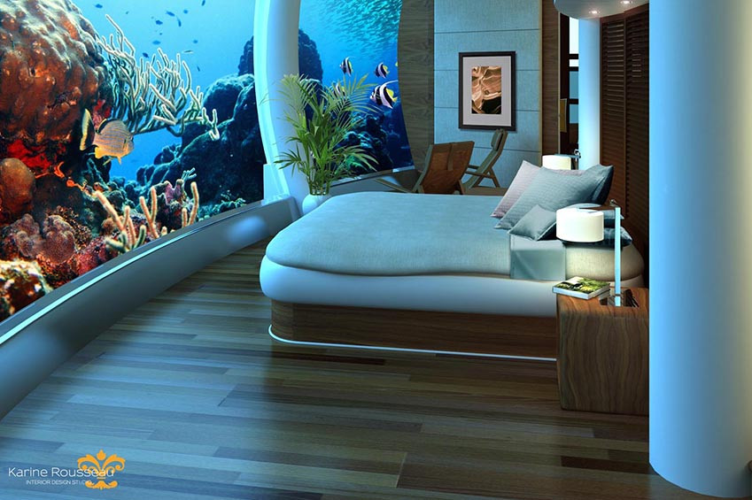 underwater hotel suite
