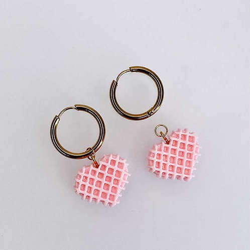 Pink Waffle Hearts