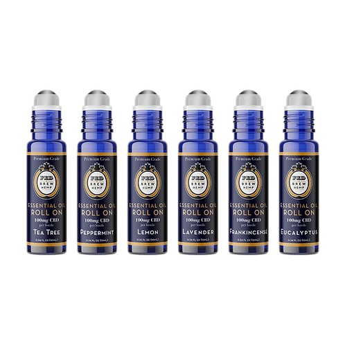 CBD Essential Oil Roll Ons - Luxe 6 Set $150 Value
