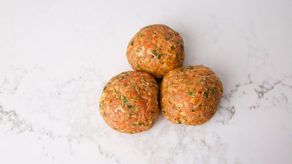 Beef and Vegetable Rissoles approx 4 per kilo