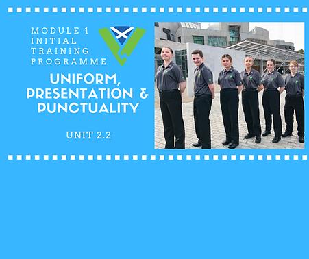 Uniform, Presentation & Punctuality