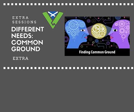 Different Needs Common Ground