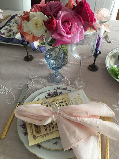 Passover Spring Table