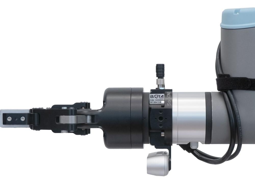 The SensONE force torque sensor by Bota Systems applied a robot