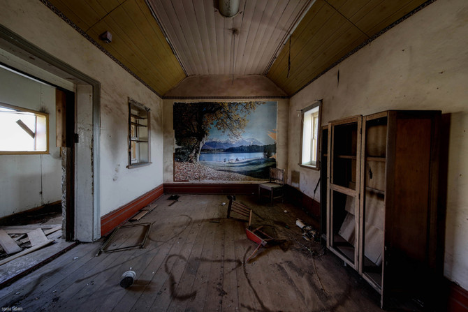 Abandoned Australian rural house