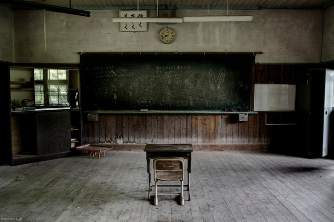 Abandoned middle school, Nara