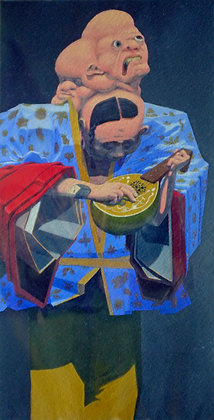the musician (6x12in.)