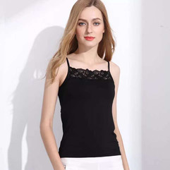 Bamboo Camisole with Lace