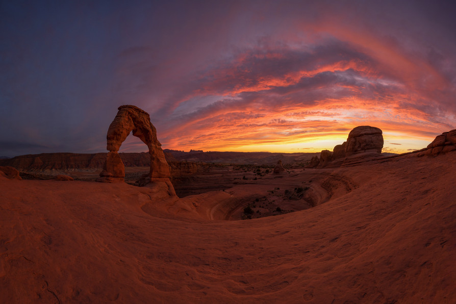 Delicate Arch on Fire