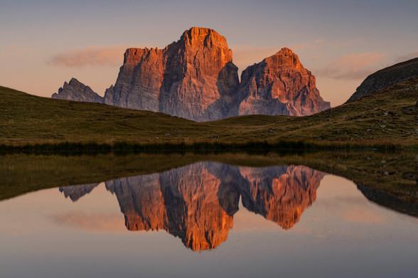 Alpenglühen am Monte Pelmo