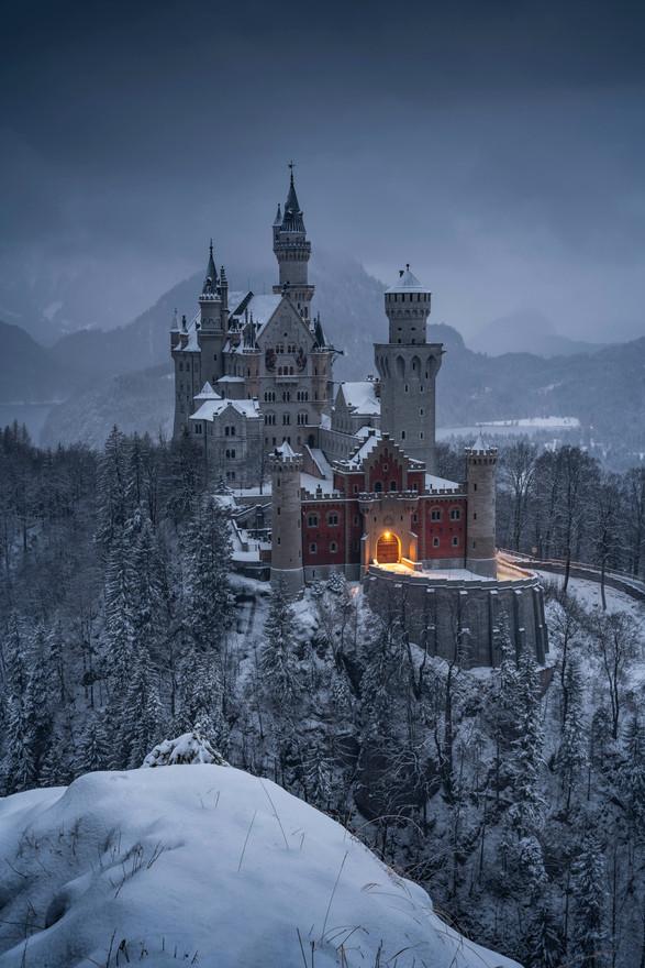 Mystische Stimmung am Schloss Neuschwanstein