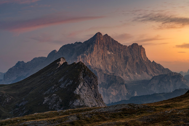 Soft light in die Dolomiten
