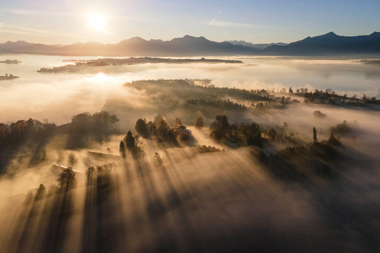 Sonnenaufgang am Chiemsee
