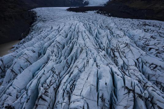 Svinfellsjökull Gletscher