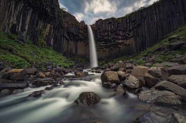 Der Svartifoss Wasserfall