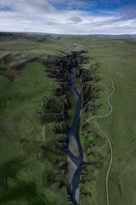 Der Fjaðrárgljúfur Krater