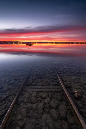 Spektakulärer Sundown am Ammersee