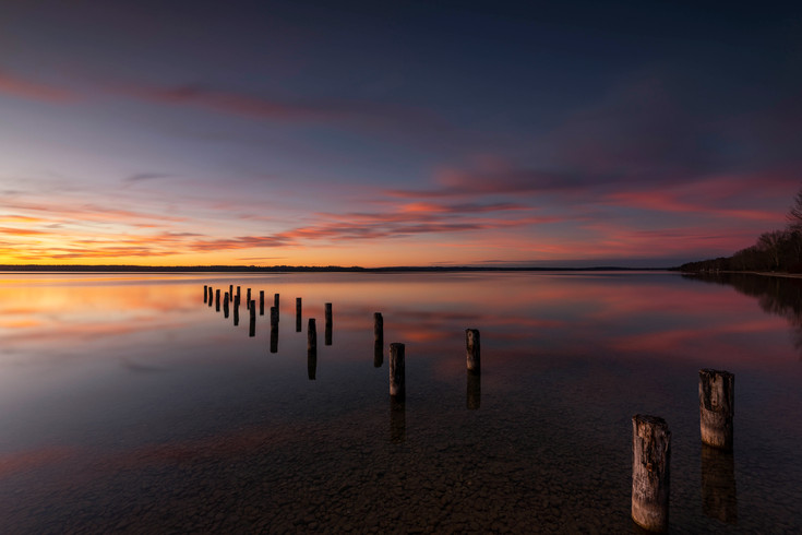 Abendlicht am Starnberger See