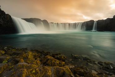 Der Godafoss Wasserfall