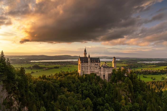 Abendlicht am Schloss Neuschwanstein
