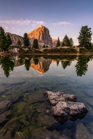 Alpenglühen am Lago Limides