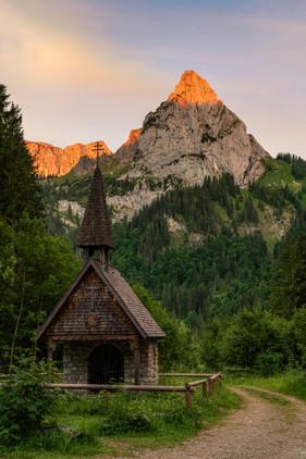 Alpenglühen im Allgäu