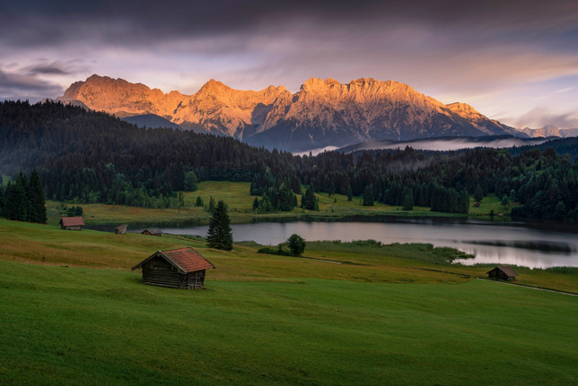 Sonnenuntergang am Geroldsee