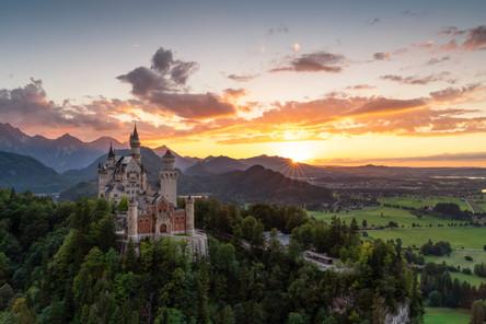 Das letzte lachen der Sonne am Schloss