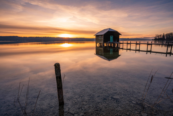 Goldenes Licht am Starnberger See