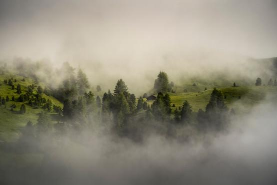 Nebel im Grödner Joch