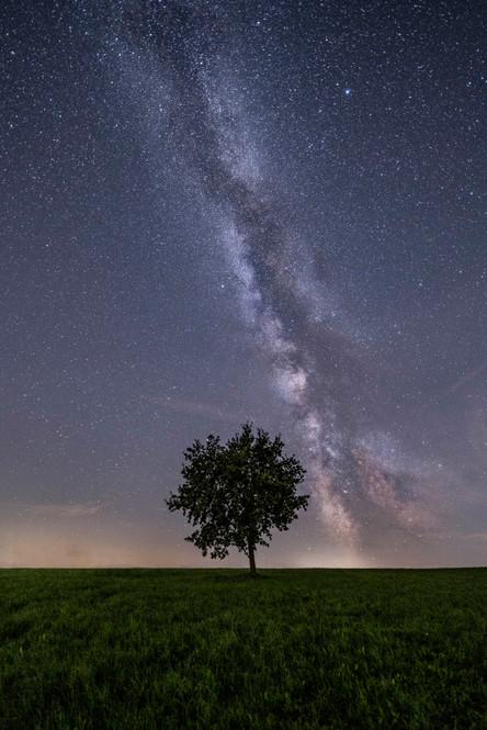Die Milchstraße am byerischen Nachthimmel
