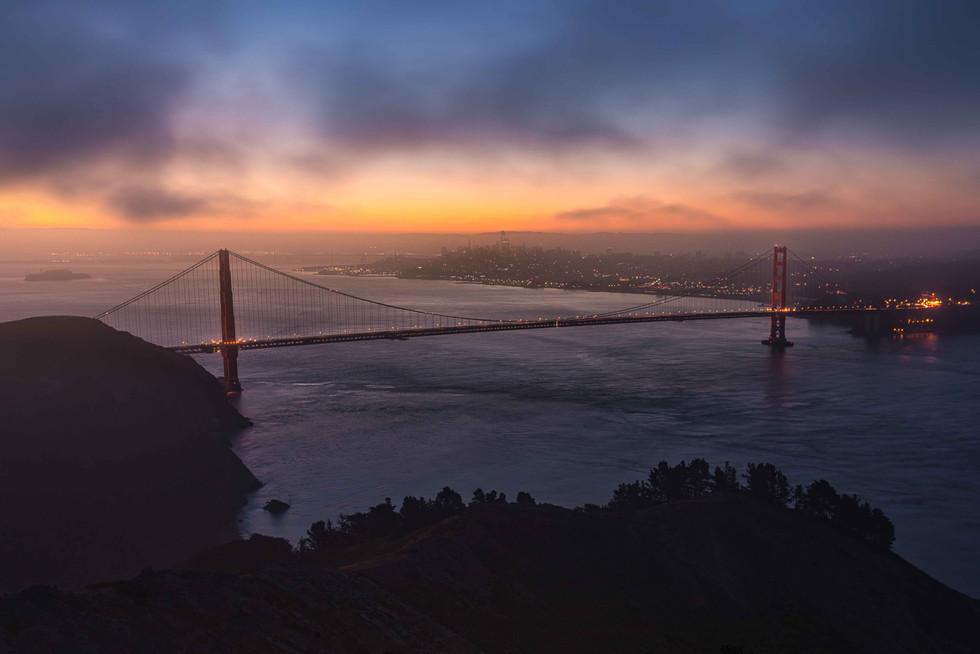 Die Golden Gate im Morgenlicht