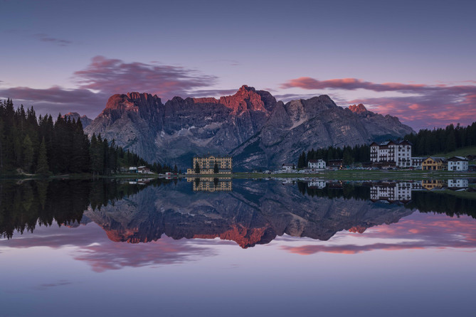 Spiegelung am Lago Misurina