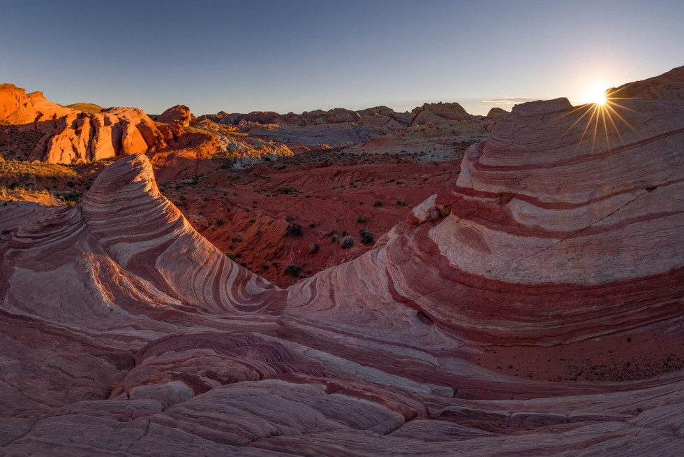 Sonnenuntergang im Valley of Fire State Park
