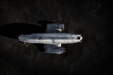 Das DC-3 Wrack von oben
