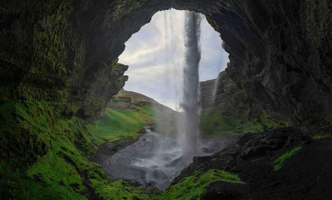 Kvernufoss Wasserfall
