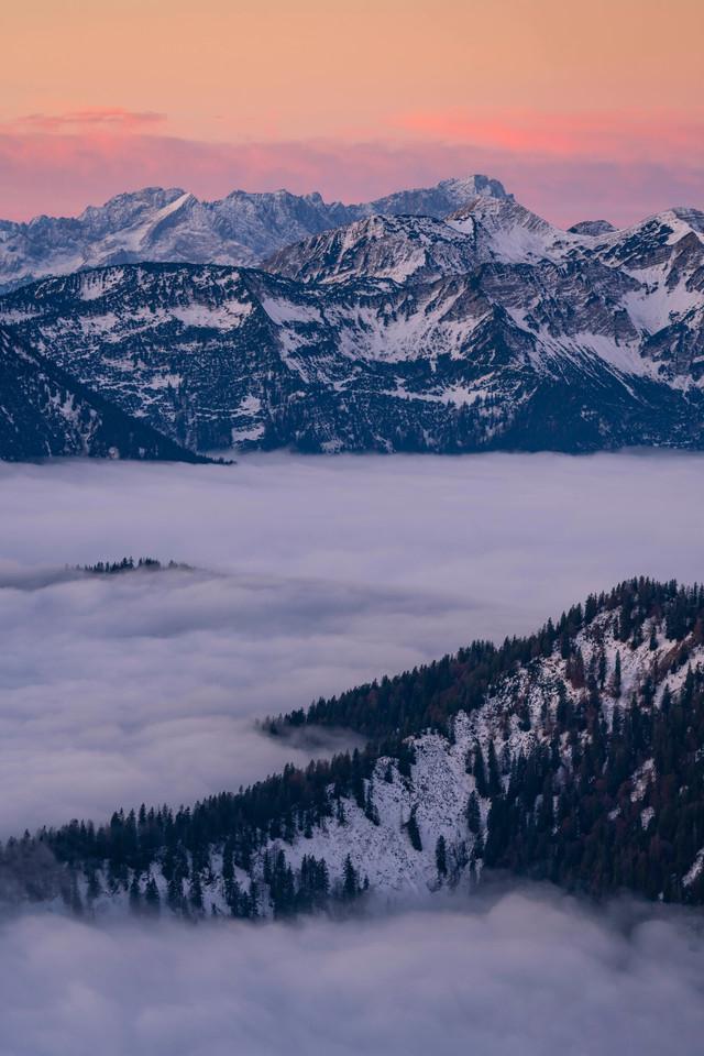 Morgen Blick auf die Zugspitze