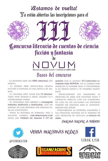 III Concurso Literario de Ciencia Ficción y Fantasía de Novum