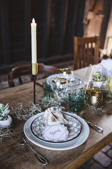 Bohemian Wedding Table Centre Styling at Elmley Nature Reserve