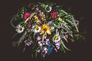 Colourful Bridal Bouquet of Local Seasonal Flowers