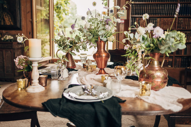 Local Seasonal Wedding Reception Table Arrangements