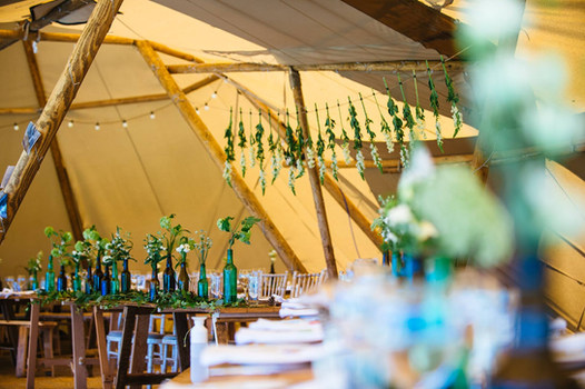 Reception Flowers at Wilderness Weddings
