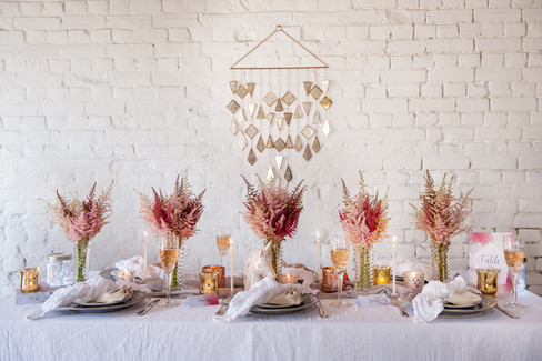 Mirrored Backdrop and Tea Light Holders at The Railway Barn, Essex