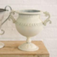 Cream Wedding Flower Arrangement Urn
