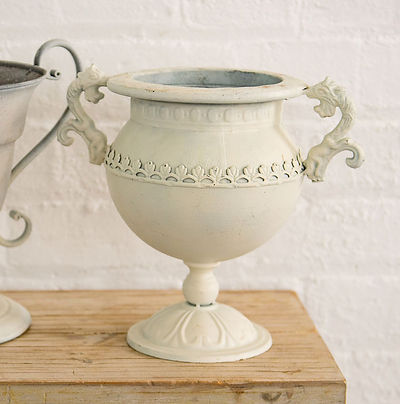 Cream Wedding Flower Arrangement Urn