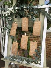Wedding Reception Flowers at The Secret Garden Kent
