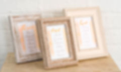 Frames for Wedding Table Seating Plans