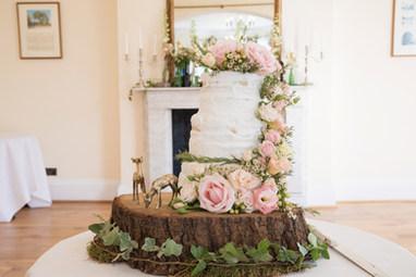 Rustic Wedding Cake Flowers by Bohotanical