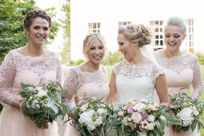Bride and Bridesmaids' Bouquets by Bohotanical